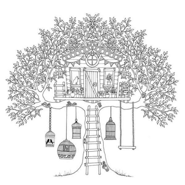 Treehouse coloring #11, Download drawings