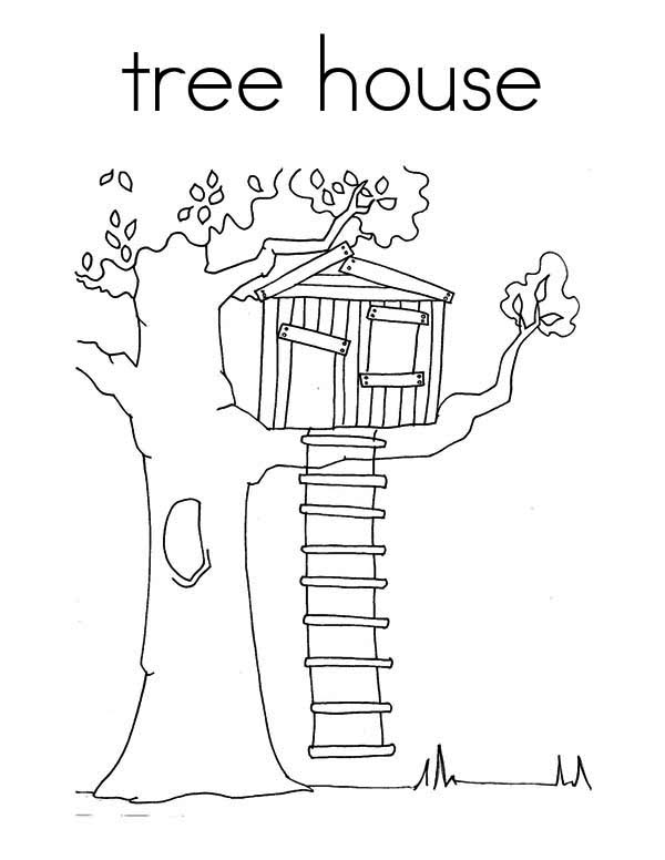 Treehouse coloring #18, Download drawings