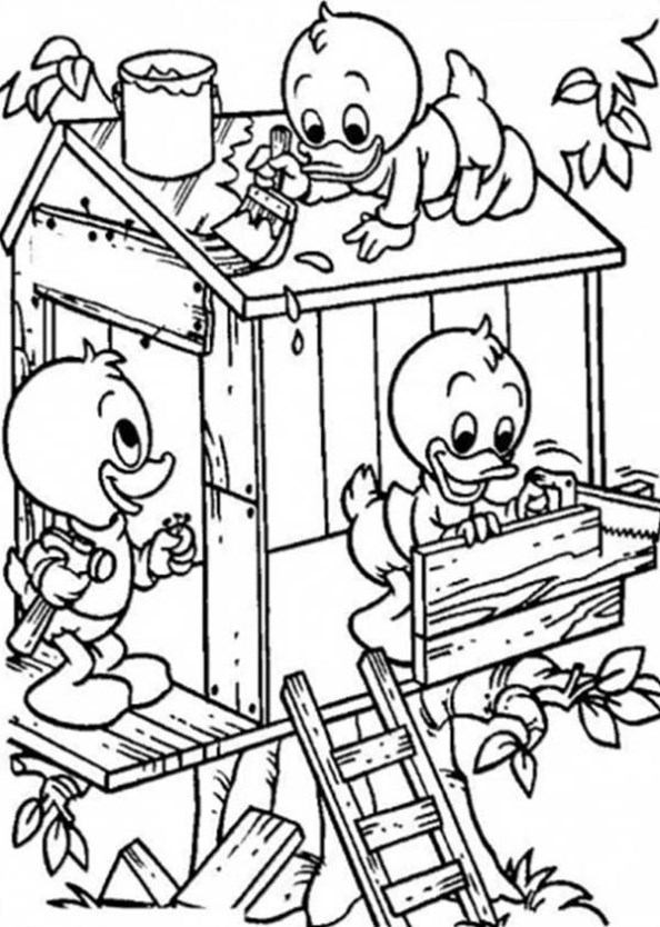 Treehouse coloring #6, Download drawings