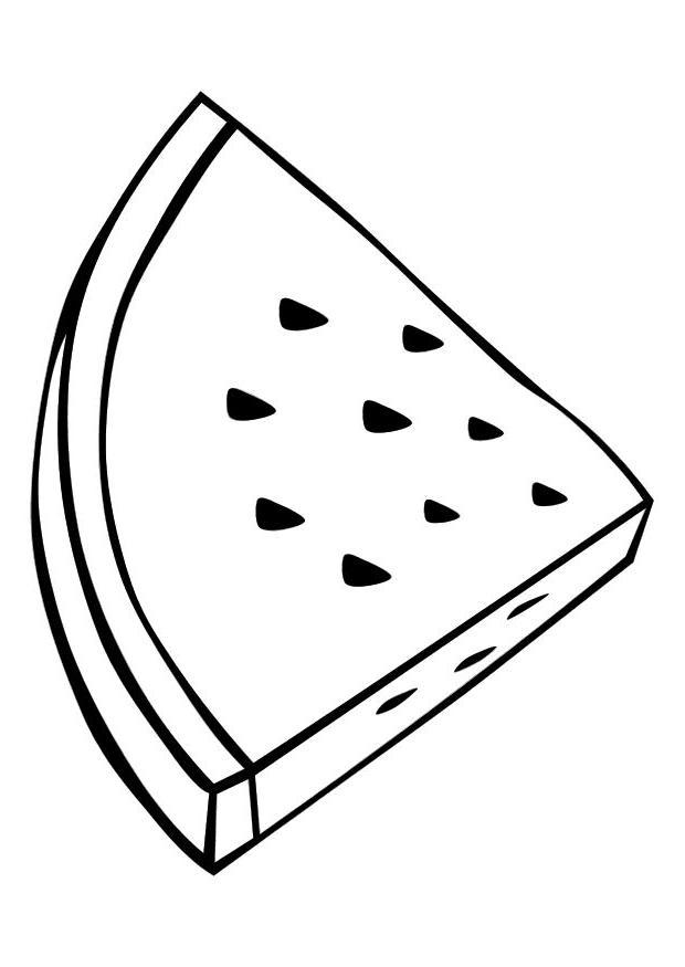 Watermelon coloring #11, Download drawings