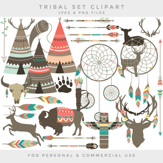 Tribal clipart #2, Download drawings