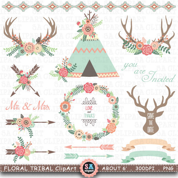 Tribal clipart #14, Download drawings