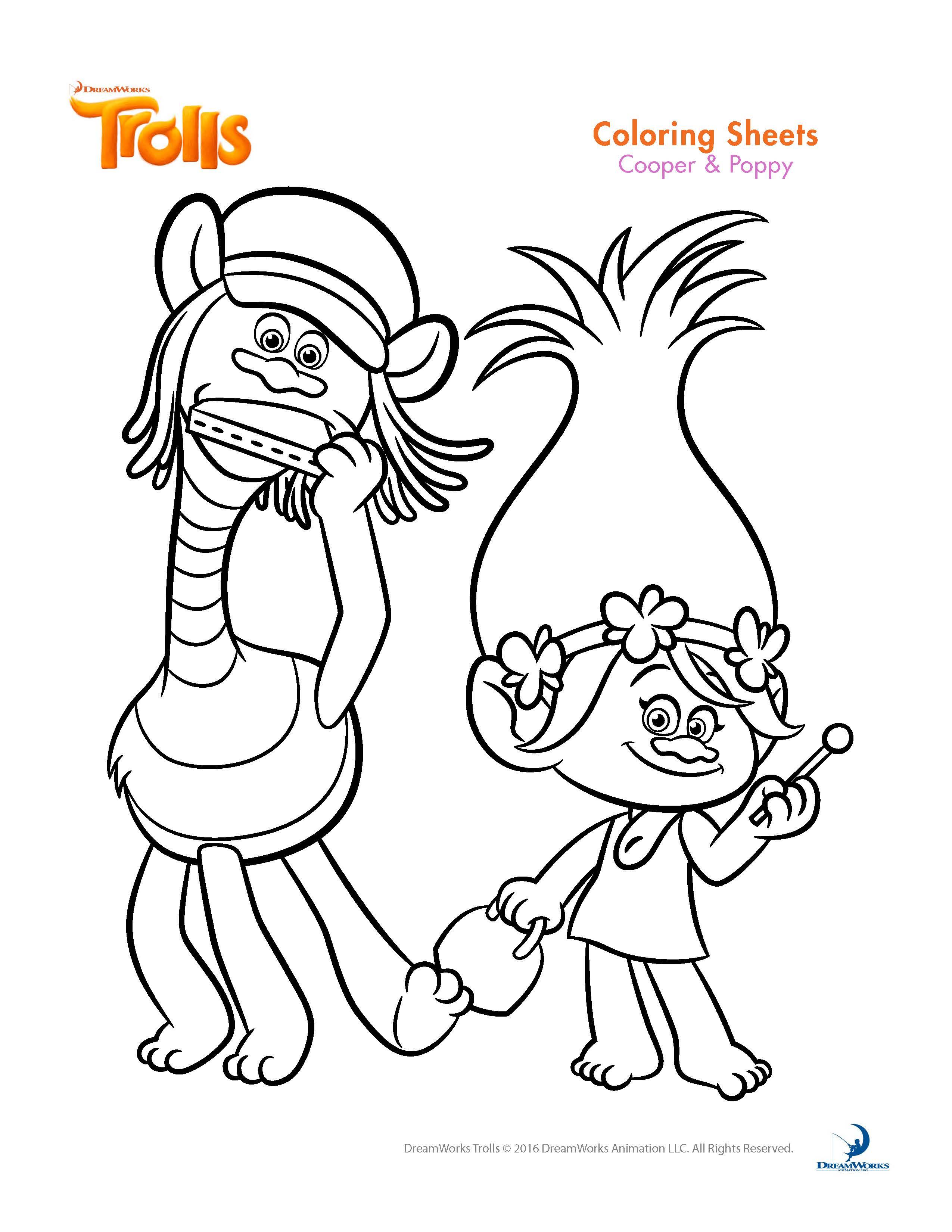 Troll coloring #10, Download drawings