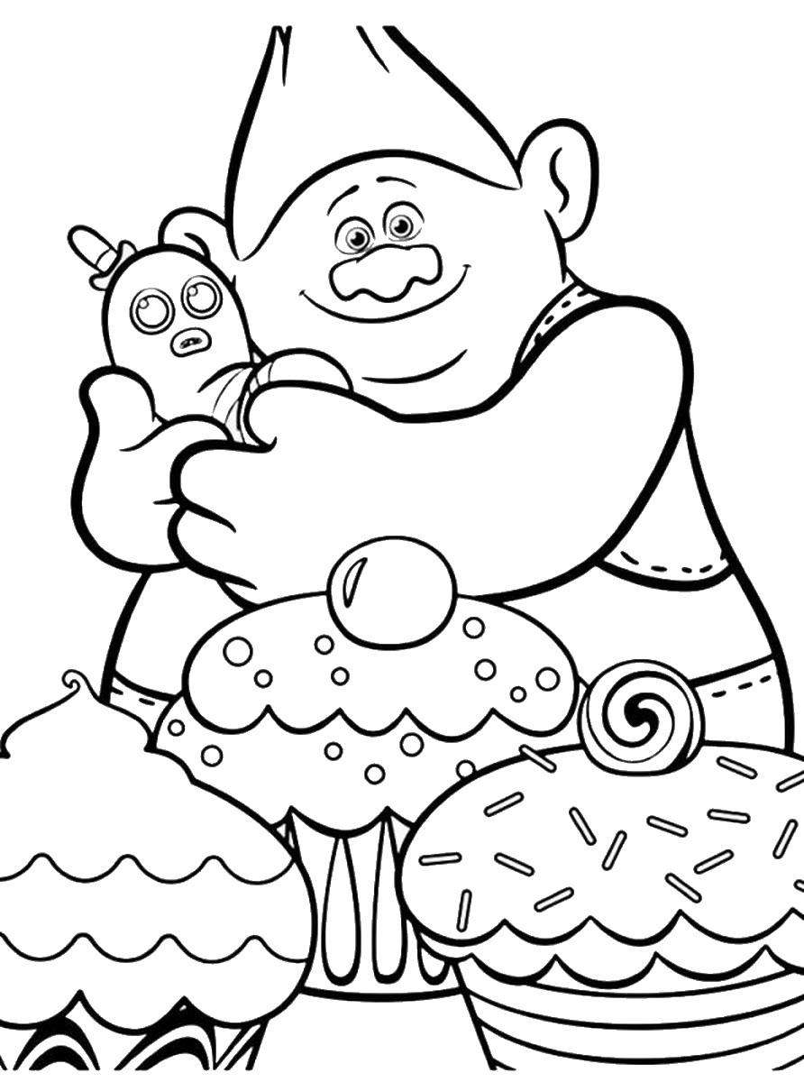Troll coloring #12, Download drawings