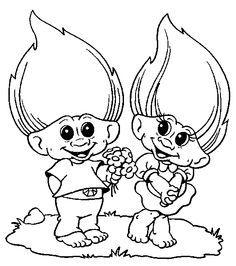 Troll coloring #9, Download drawings