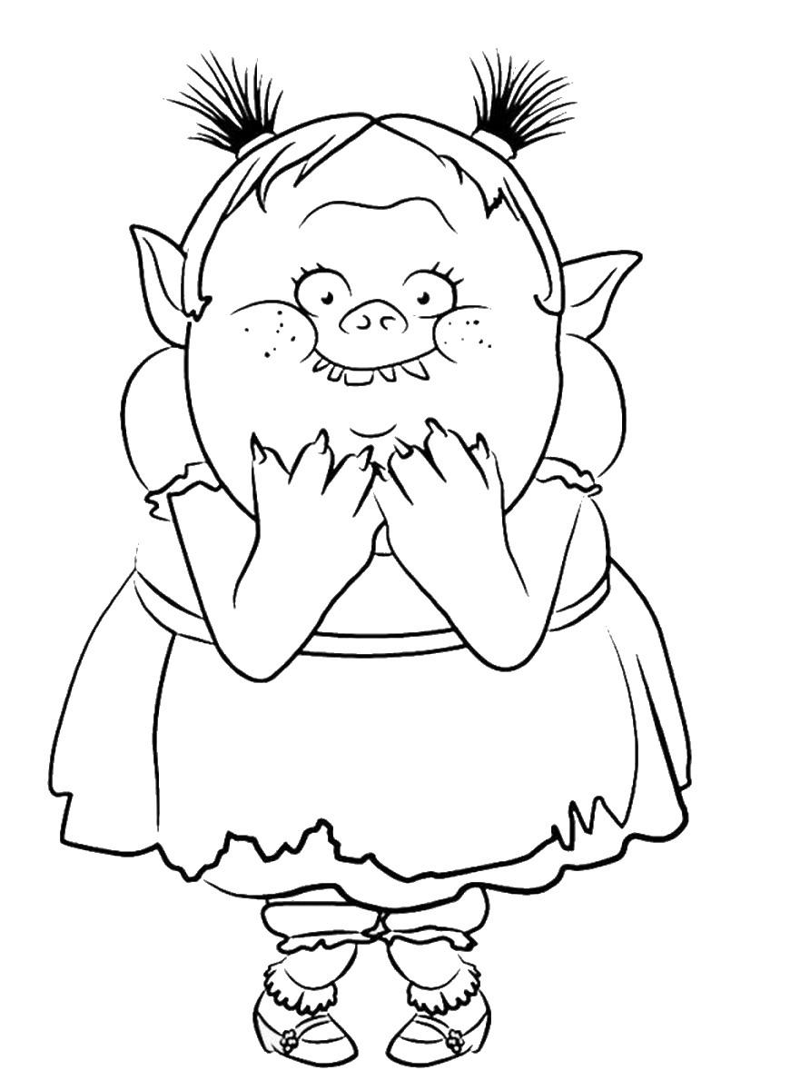Troll coloring #6, Download drawings