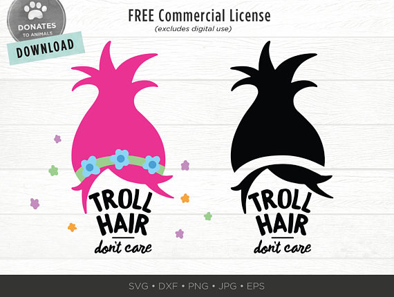 troll hair svg #53, Download drawings