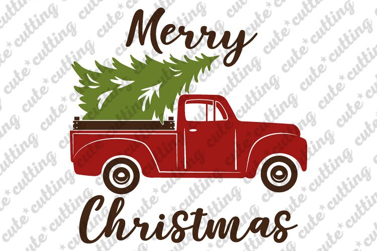 truck with christmas tree svg #1093, Download drawings