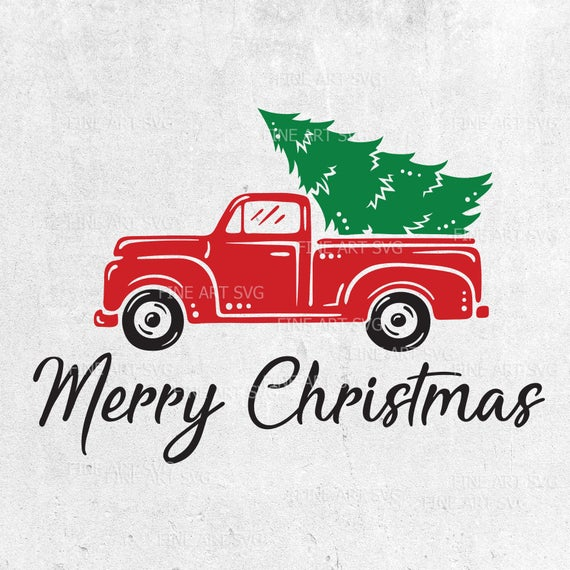 truck with christmas tree svg #1138, Download drawings