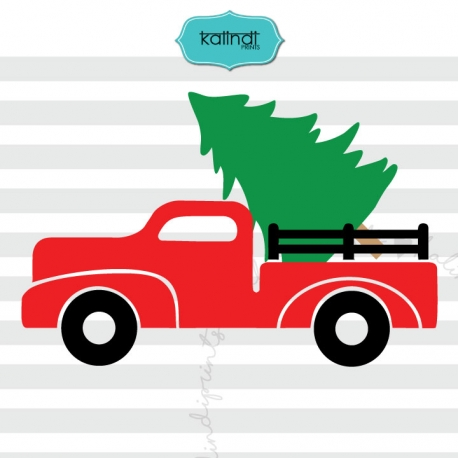 truck with christmas tree svg #1136, Download drawings