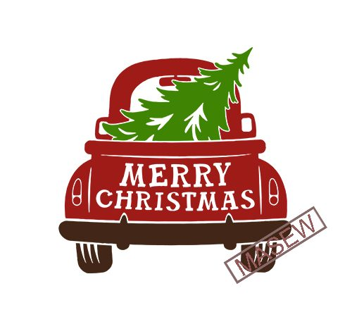 truck with christmas tree svg #1106, Download drawings