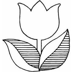 Tulip coloring #5, Download drawings