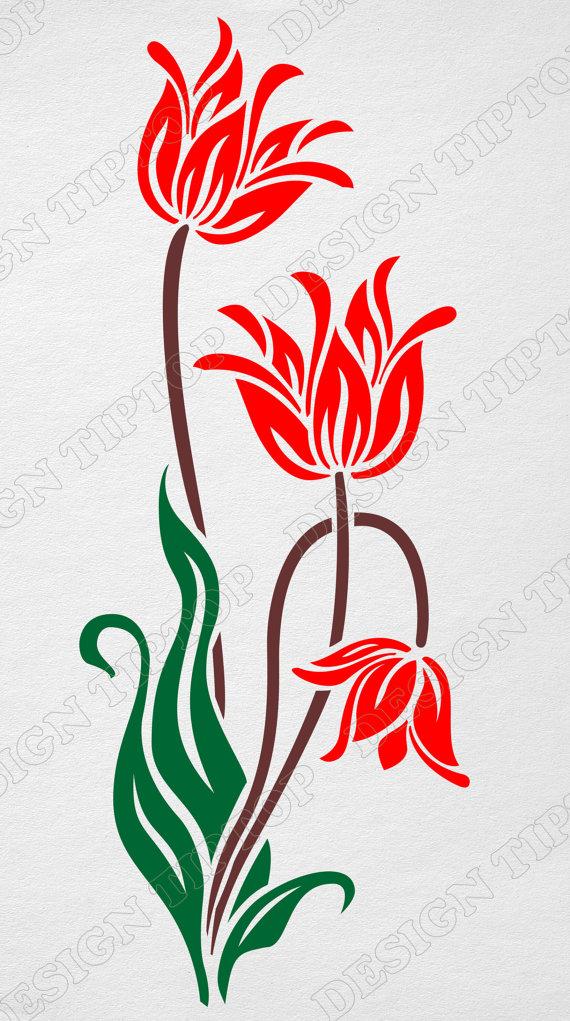 Tulip svg #4, Download drawings