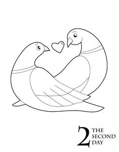 Turtle Dove coloring #15, Download drawings
