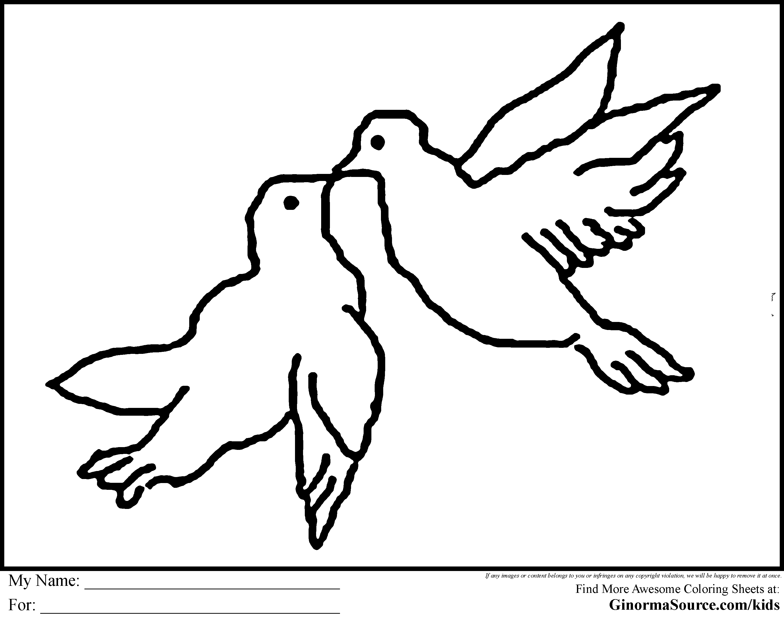 Turtle Dove coloring #13, Download drawings