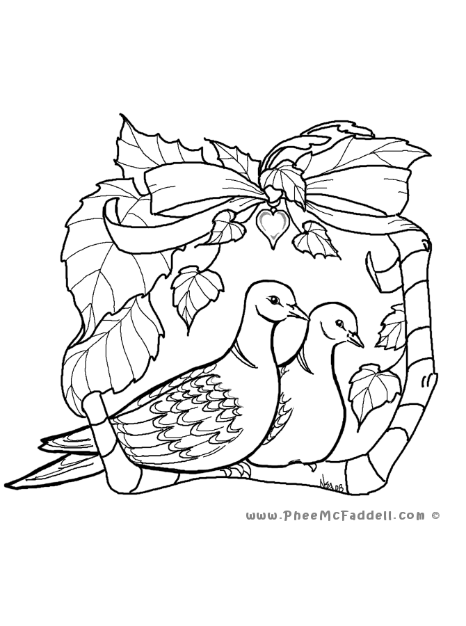 Turtle Dove coloring #3, Download drawings