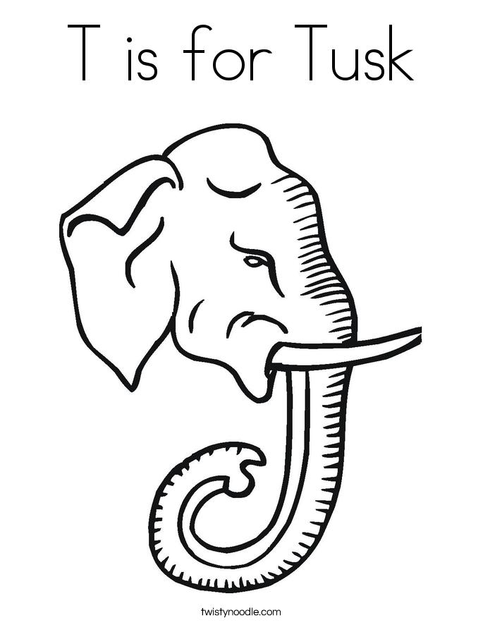 Tusk coloring #18, Download drawings