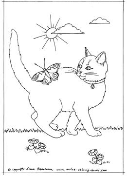 Tuxedo Cat coloring #1, Download drawings