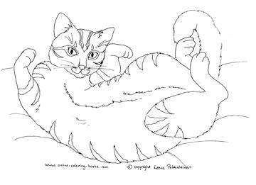 Tuxedo Cat coloring #5, Download drawings