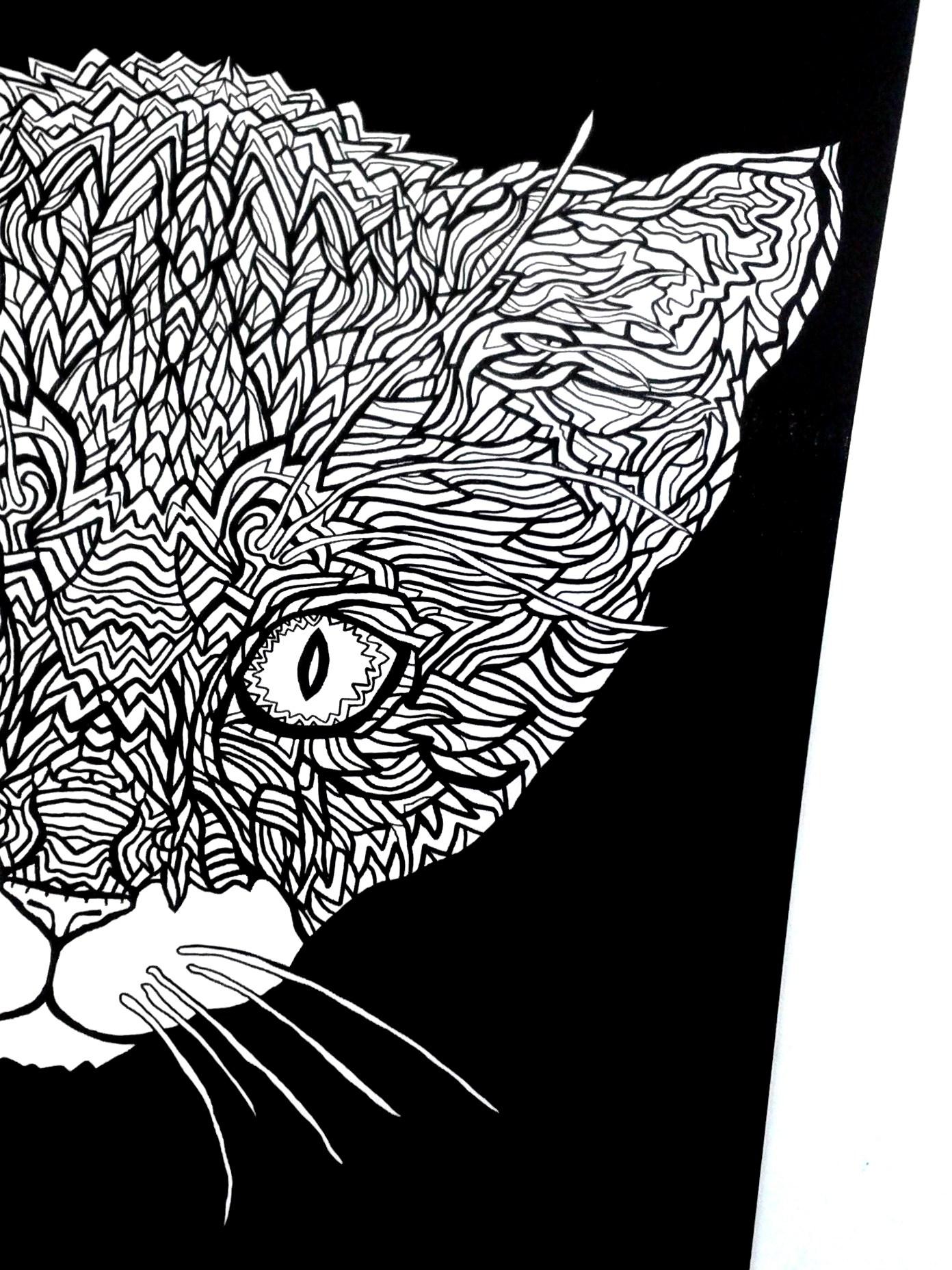 Tuxedo Cat coloring #10, Download drawings