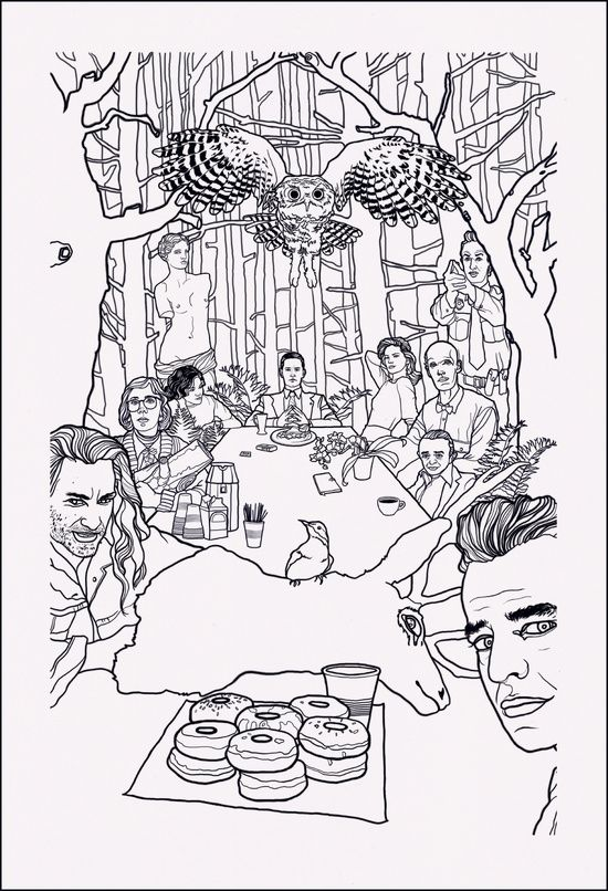 Twin Peaks coloring #7, Download drawings