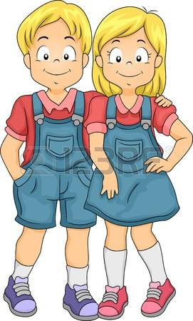 Twins clipart #2, Download drawings