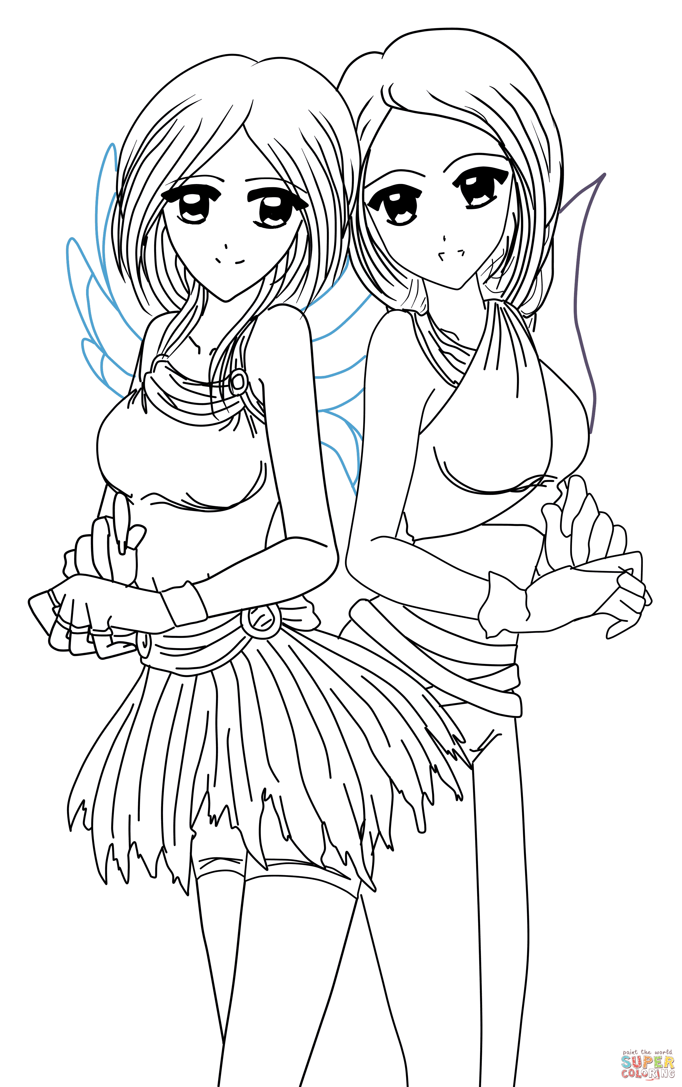 Twins coloring #19, Download drawings