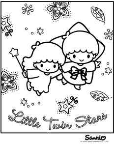 Twins coloring #5, Download drawings