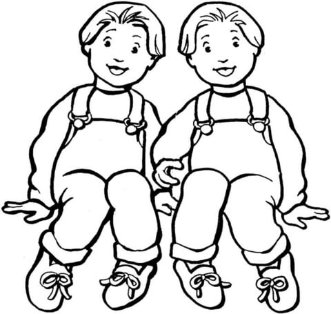 Twins coloring #4, Download drawings