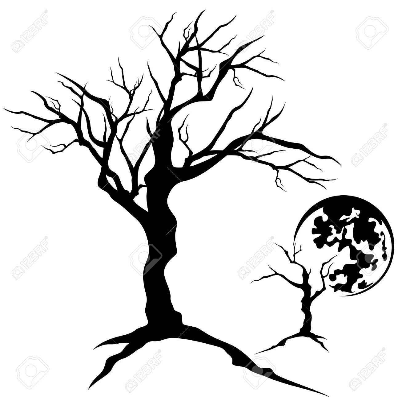 Twisted Tree clipart #3, Download drawings