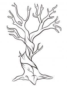 Twisted Tree clipart #1, Download drawings