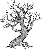 Twisted Tree clipart #4, Download drawings