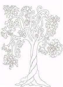 Twisted Tree coloring #3, Download drawings