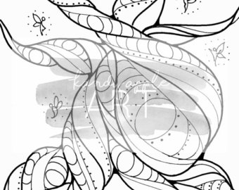 Twisted Tree coloring #15, Download drawings