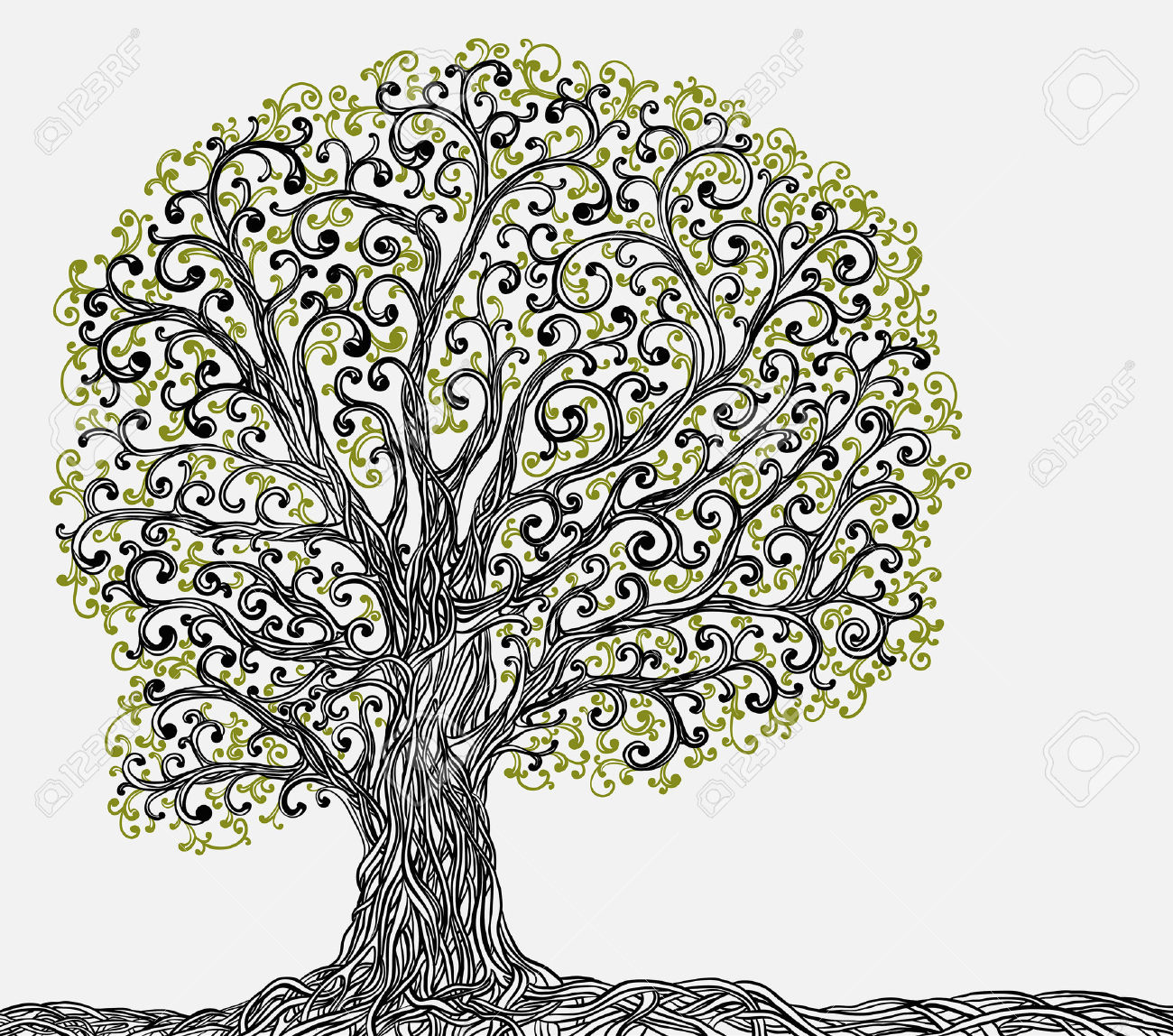 Twisted Tree coloring #19, Download drawings