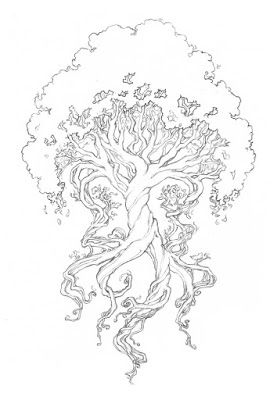 Twisted Tree coloring #8, Download drawings