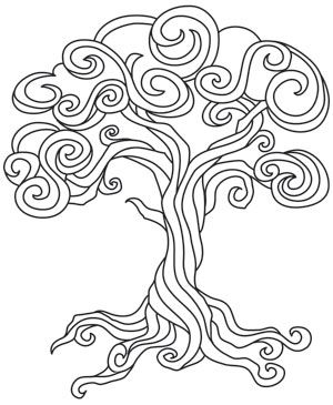 Twisted Tree coloring #9, Download drawings