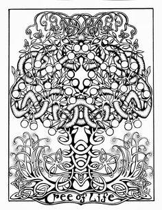 Twisted Tree coloring #6, Download drawings