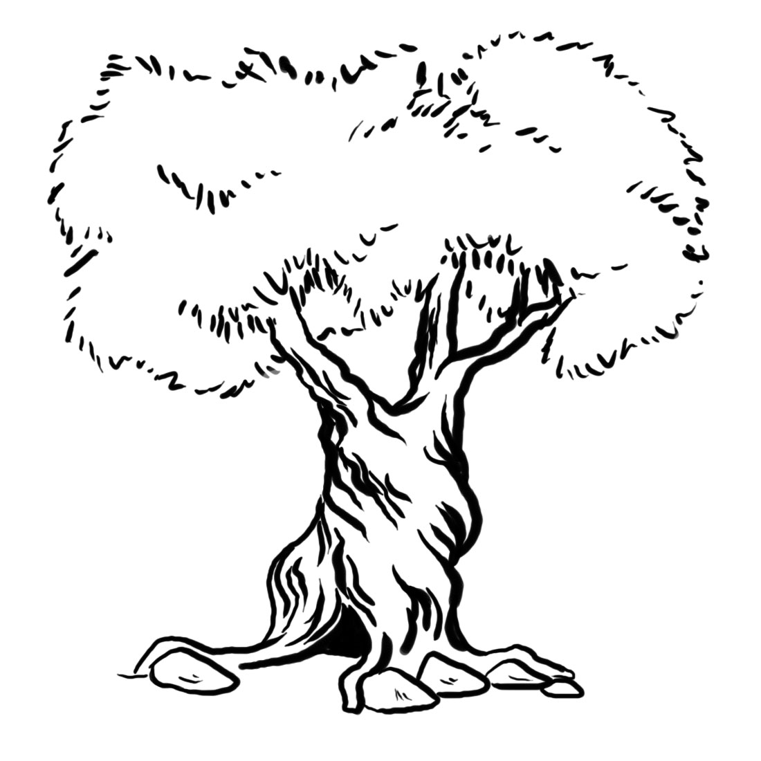 Twisted Tree coloring #2, Download drawings