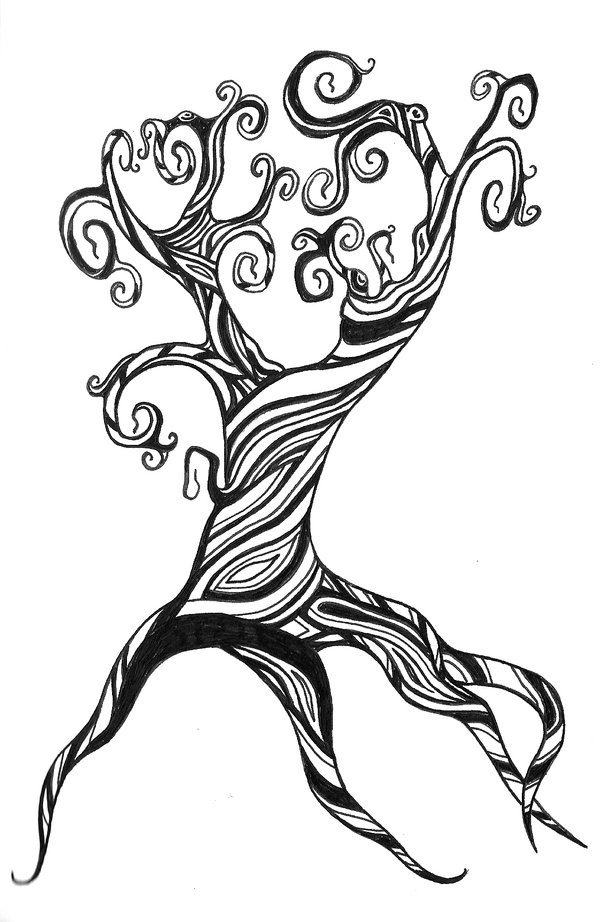Twisted Tree coloring #10, Download drawings