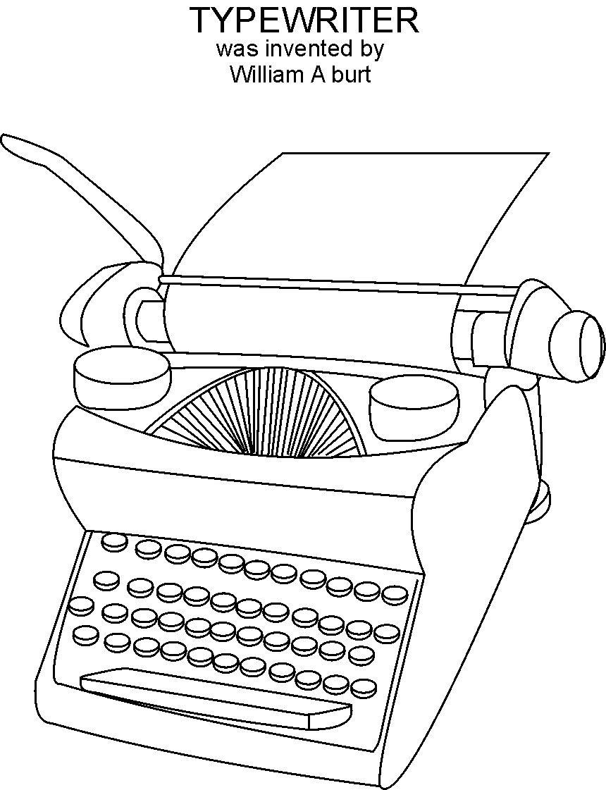 Typewriter coloring #13, Download drawings