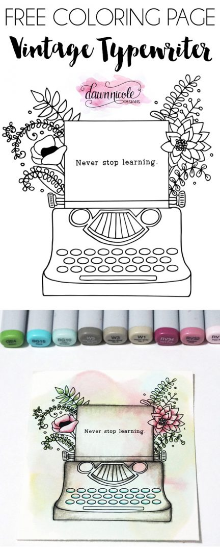 Typewriter coloring #9, Download drawings