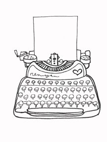 Typewriter coloring #6, Download drawings