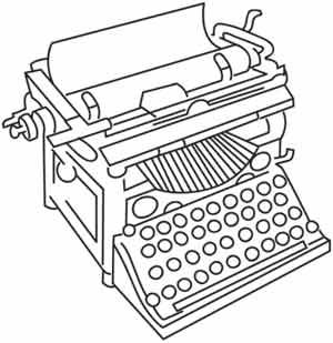 Typewriter coloring #19, Download drawings