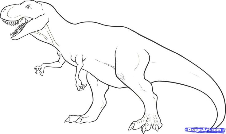 Tyrannosaurus Rex coloring #8, Download drawings