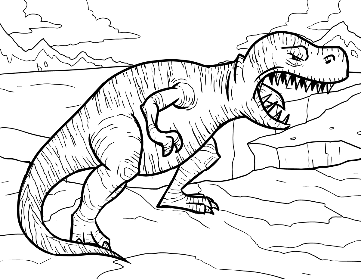 Tyrannosaurus Rex coloring #13, Download drawings