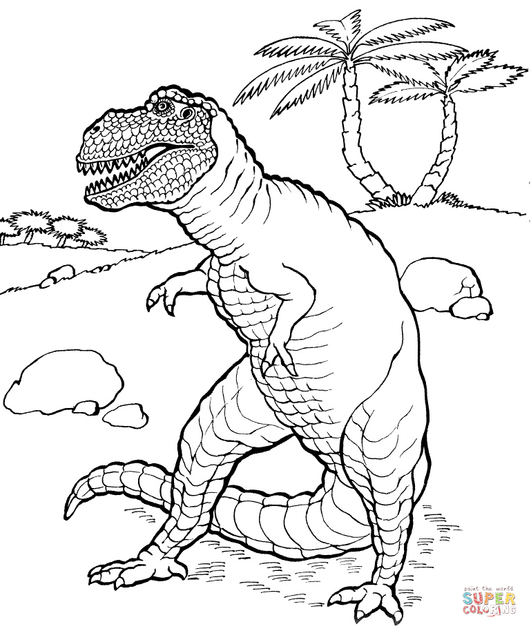 Tyrannosaurus Rex coloring #3, Download drawings