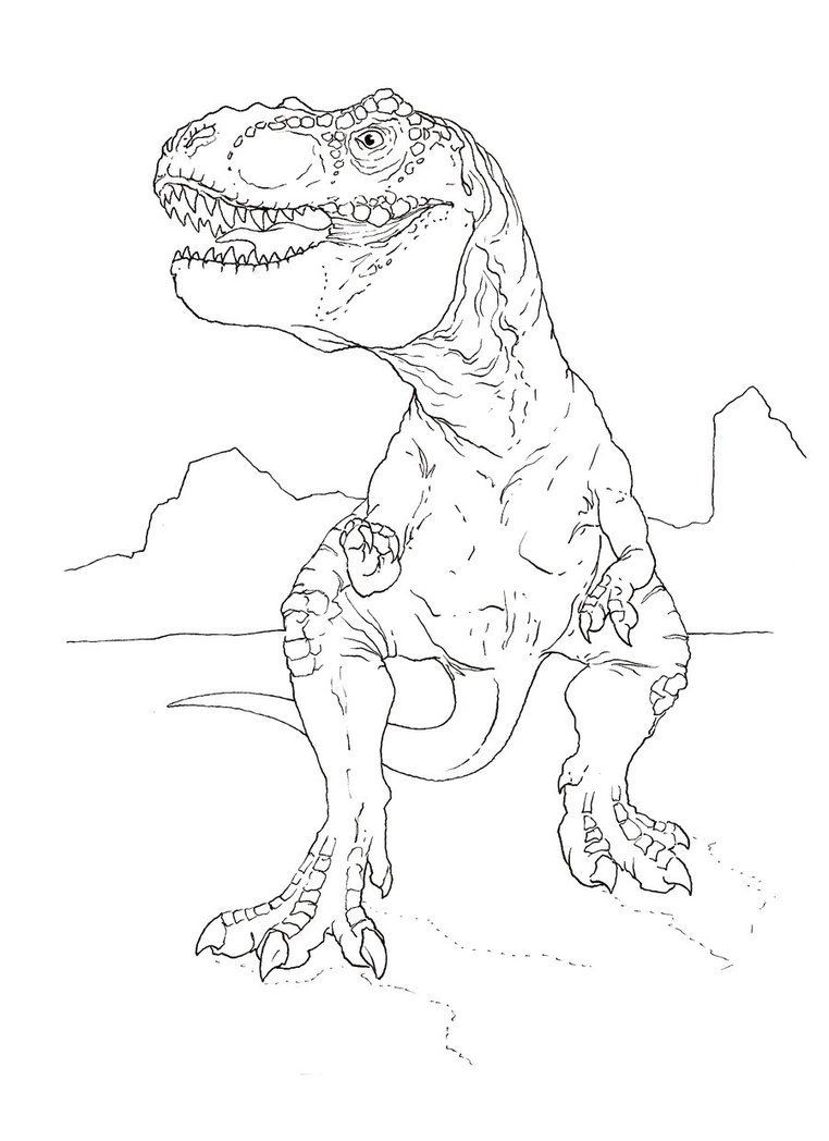 Tyrannosaurus Rex coloring #10, Download drawings
