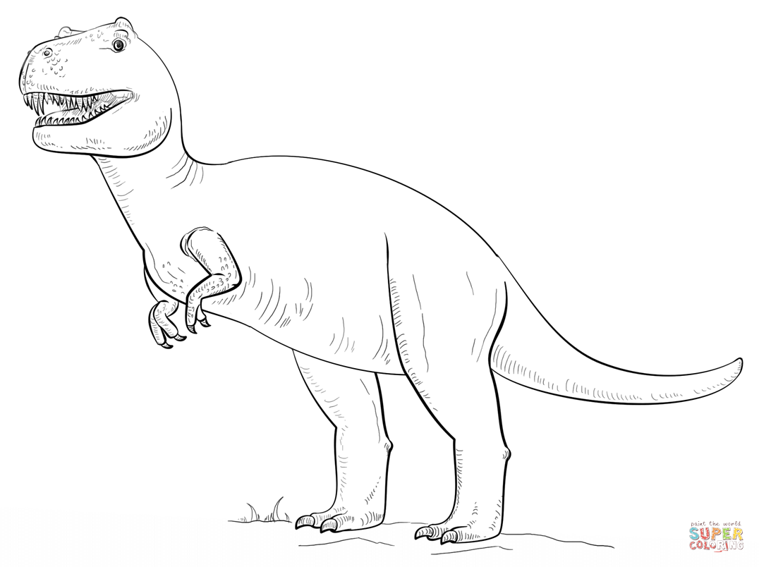 Tyrannosaurus Rex coloring #17, Download drawings
