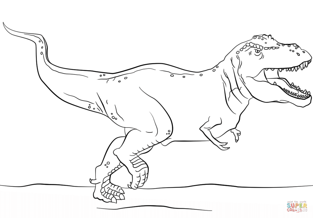 Tyrannosaurus Rex coloring #16, Download drawings